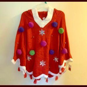 NWT Ugly Christmas ponch Holiday Time Xl 16-18